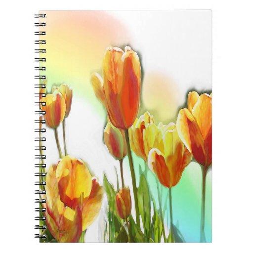 Cuaderno de los tulipanes del arco iris