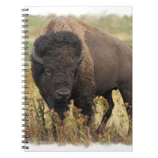 Cuaderno de madera del bisonte