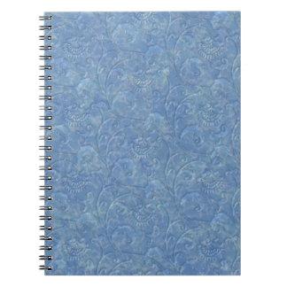 """Cuaderno """"de mármol"""" líquido azul de la impresión"""