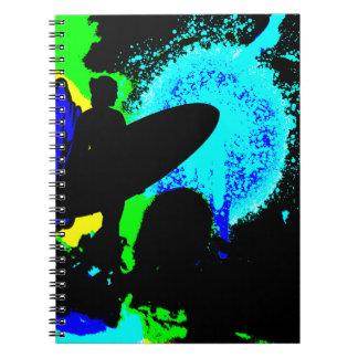 Cuaderno de medianoche de la persona que practica