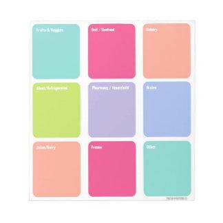 Cuaderno de notas adaptable de la lista de compras