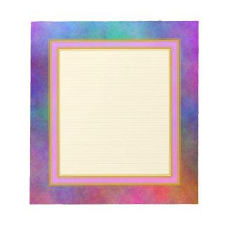 Cuaderno de notas alineado de la luz del sol del j blocs de papel