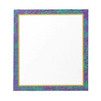 Cuaderno de notas blanco del trullo púrpura pequeñ libretas para notas