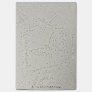 Cuaderno de notas bordado del post-it del edredón  post-it® notas