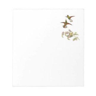 Cuaderno de notas con los colibríes libretas para notas