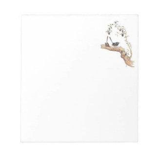 Cuaderno de notas con los Wrens azules Blocs