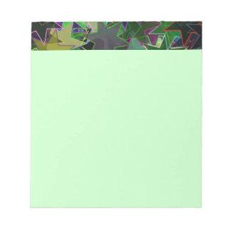 Cuaderno de notas de baile de la verde menta de la blocs de papel