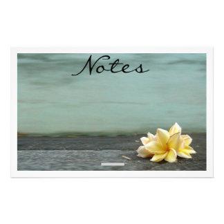Cuaderno de notas de la flor  papeleria