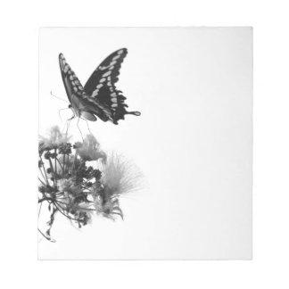 Cuaderno de notas de la mariposa y de la floración