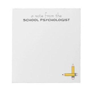 Cuaderno de notas de la obra clásica del psicólogo blocs de papel