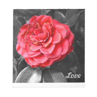 Cuaderno de notas de la tableta del rosa de té del libretas para notas