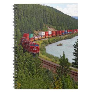 Cuaderno de notas del ferrocarril de la curva de M