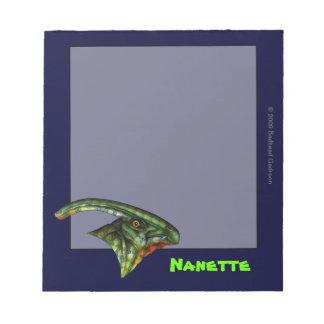 Cuaderno de notas del Hadrosaur pequeño
