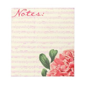 Cuaderno de notas del peony de Bella Italia