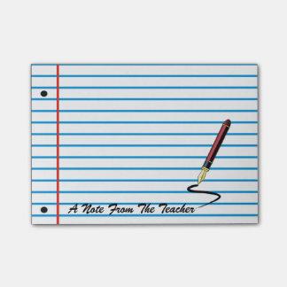 Cuaderno de notas del post-it del papel del cuader post-it nota