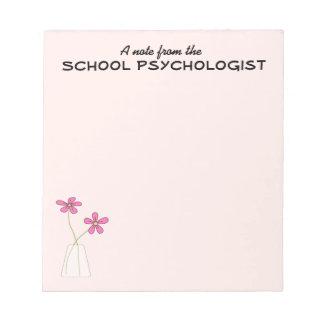 Cuaderno de notas del psicólogo de la escuela (peq blocs de notas