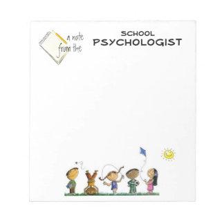 Cuaderno de notas del psicólogo de la escuela prim bloc de papel