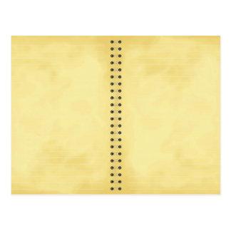 cuaderno de notas envejecido tarjeta postal