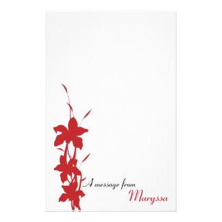 Cuaderno de notas floral rojo moderno papeleria