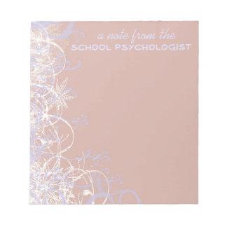 Cuaderno de notas hermoso del psicólogo de la escu libreta para notas