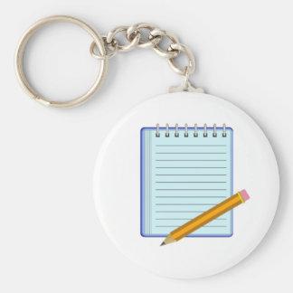 Cuaderno de notas llavero redondo tipo pin