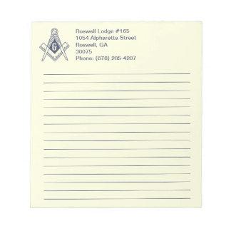 Cuaderno de notas masónico libretas para notas