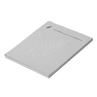 Cuaderno de notas negro y blanco del negocio del bloc de notas