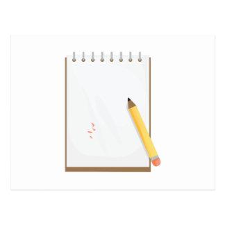 Cuaderno de notas tarjeta postal