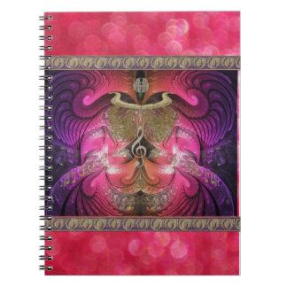 Cuaderno de oro del escarabajo del fractal