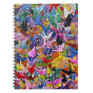 Cuaderno de papel de 1.000 grúas de Origami