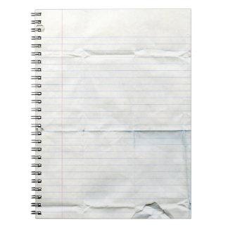 Cuaderno de papel del cuaderno