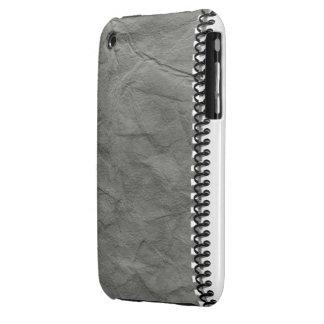 cuaderno de papel viejo con el caso espiral del iPhone 3 fundas