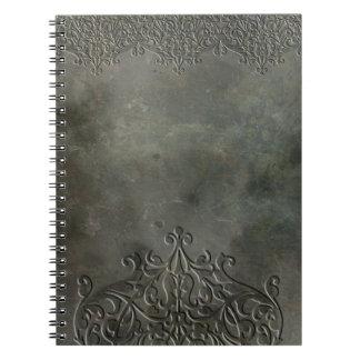 Cuaderno de piedra grabado al agua fuerte