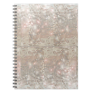 Cuaderno de plata de las lentejuelas