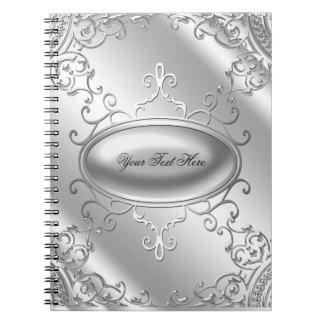 Cuaderno de plata elegante