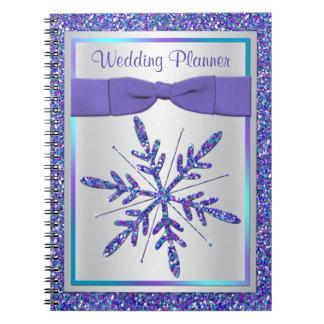 Cuaderno de plata púrpura del planificador del bod