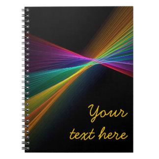 Cuaderno de punta del orgullo gay LGBT del arco