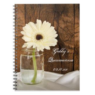 Cuaderno de Quinceañera del tarro de albañil y de