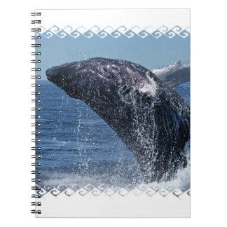 Cuaderno de salto de las ballenas jorobadas