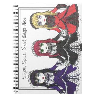 Cuaderno de tres hermanas