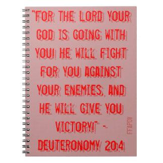 Cuaderno del 20:4 FFAPOV A4 de Deuteronomy (rojo)