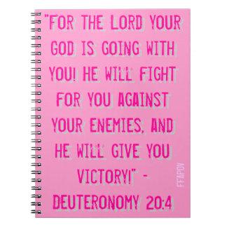 Cuaderno del 20:4 FFAPOV A4 de Deuteronomy (rosa)