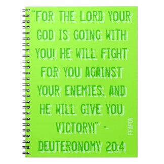 Cuaderno del 20:4 FFAPOV A4 de Deuteronomy (verde)