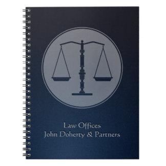 Cuaderno del abogado de Personalizable - escalas