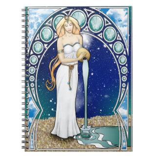 Cuaderno del acuario de Nouveau del arte