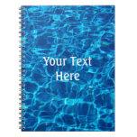 Cuaderno del agua de la piscina