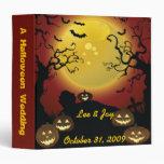 Cuaderno del álbum de foto del boda de Halloween
