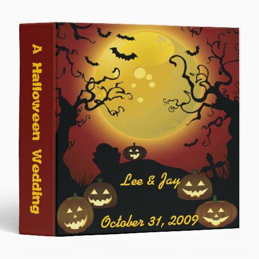 """Cuaderno del álbum de foto del boda de Halloween Carpeta 1 1/2"""""""
