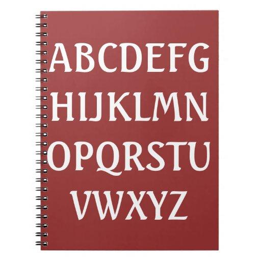 Cuaderno del alfabeto