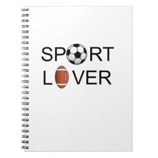 Cuaderno del amante del deporte